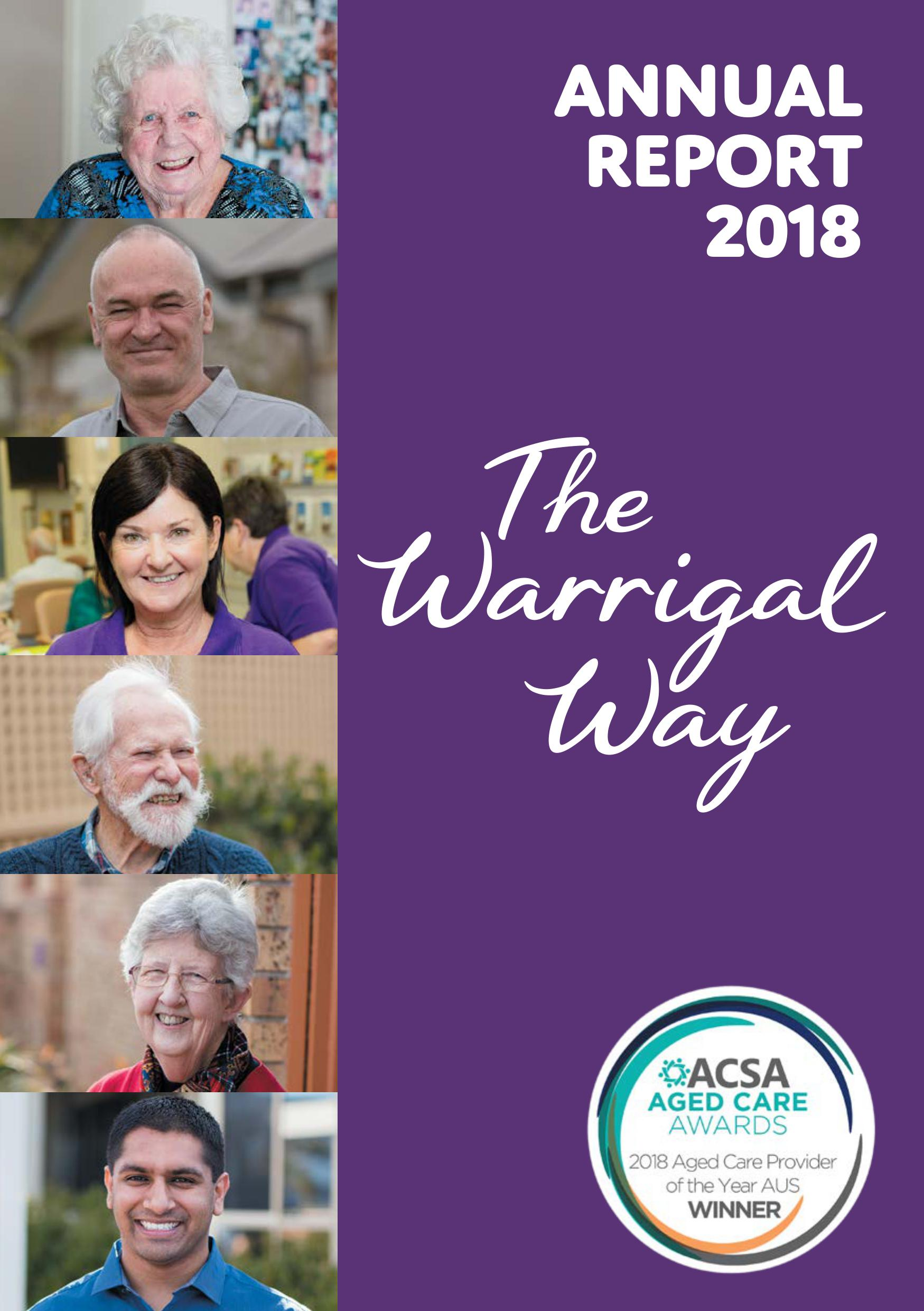 Warrigal AnnualReport18 web FRONT COVER